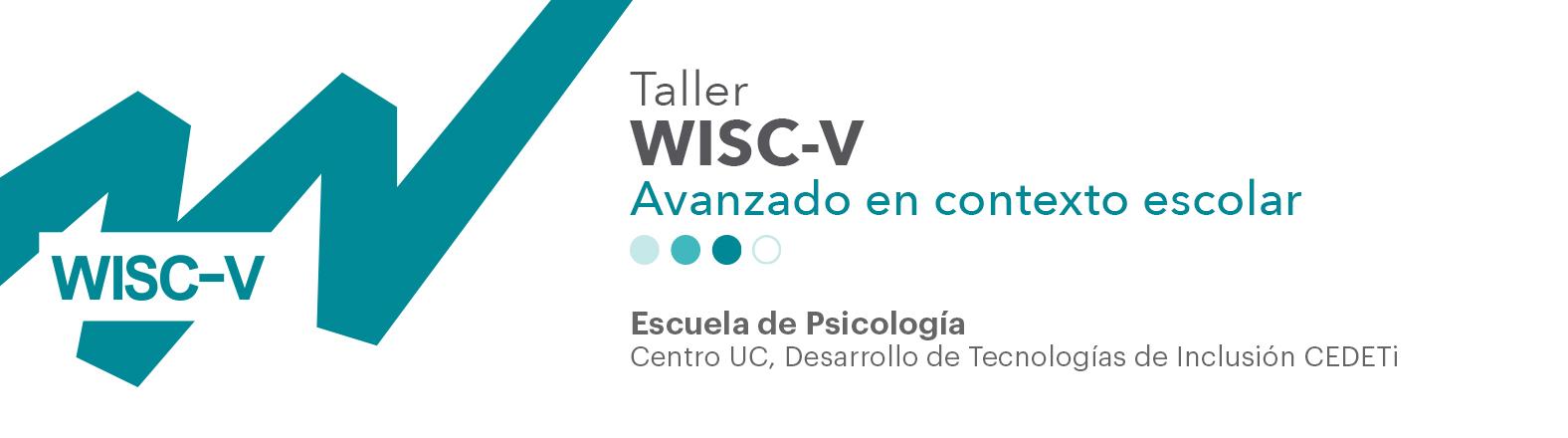 imagen taller WISC-V nivel avanzado en el contexto escolar